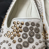 Alexander McQueen Ivory Embellished Flats Size 38.5