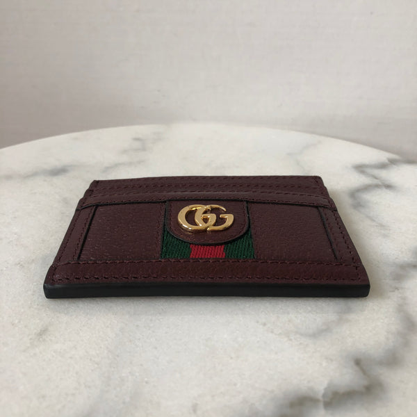 GUCCI bordeaux Ophidia Card Holder