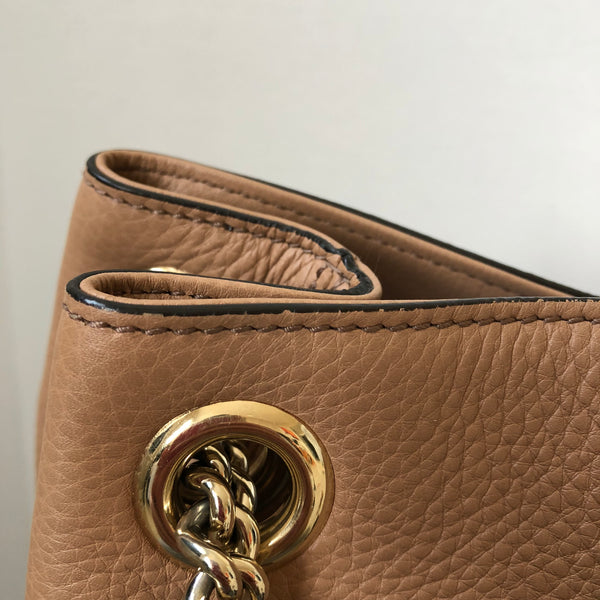 Gucci Beige Soho Chain Shoulder Bag