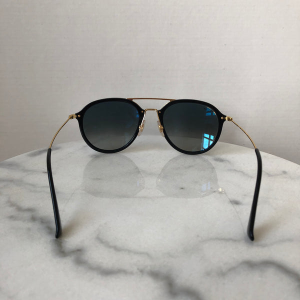 Ray Ban Highstreet Pilot Black/Gold Sunglasses