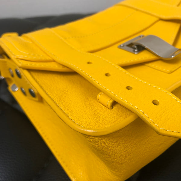 PROENZA SCHOULER Yellow Lambskin PS1 Mini Crossbody Bag