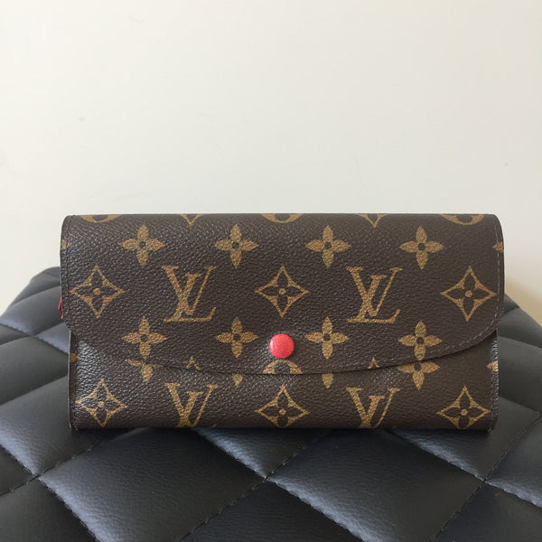 Louis Vuitton Monogram Rouge Emilie Long Wallet