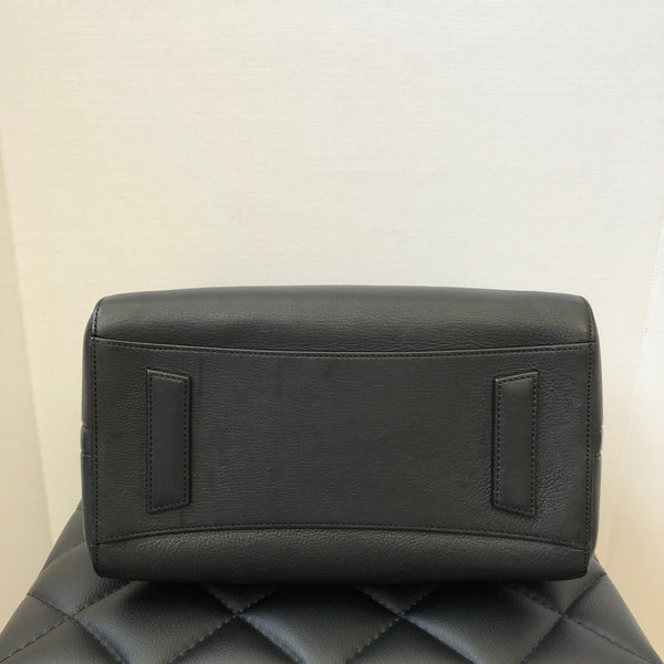 Givenchy Small Grained Black Antigona Shoulder Bag