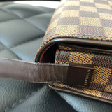 LOUIS VUITTON Damier Ebene Tribeca PM Shoulder Bag