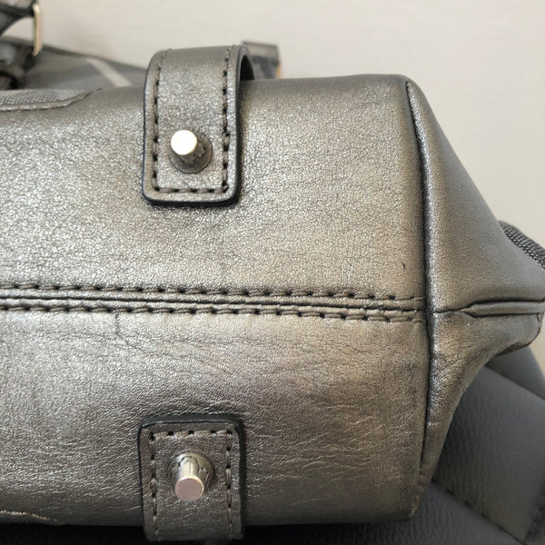 Burberry Metallic Grey Shimmer Shoulder Bag
