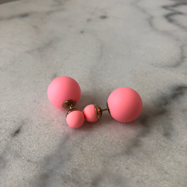 Dior Mise En Dior Tribal Coral Pink Earrings