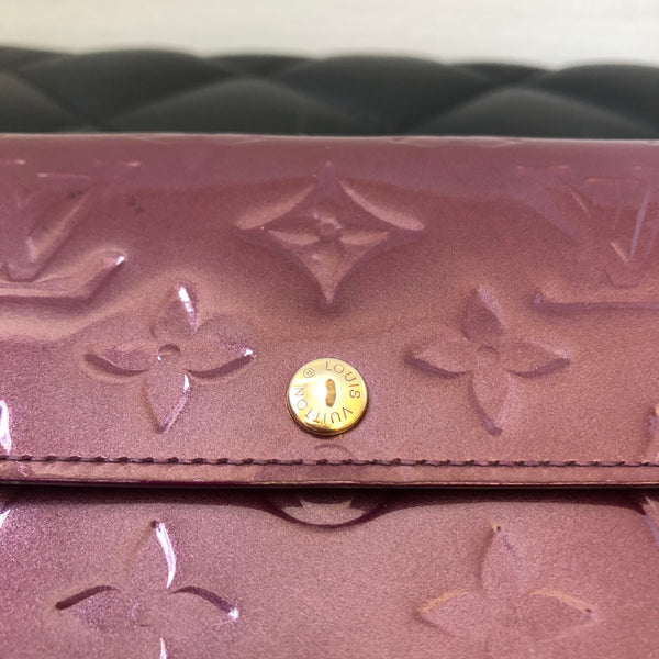 Louis Vuitton Vernis Rouge Fauviste Sarah Wallet