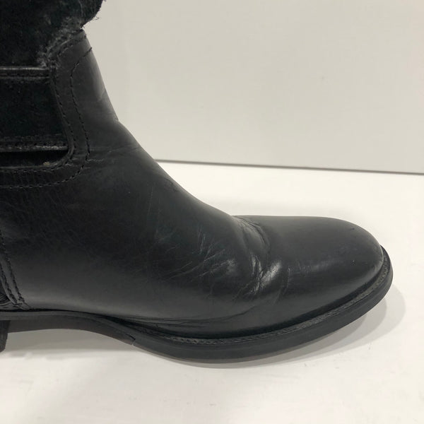 Tory Burch Black Riding Boots Size 8