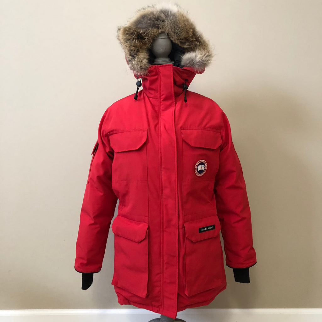 Details about Canada Goose Expedition Parka. Size Small. Red.