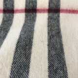 Burberry Ivory Check Cashmere Scarf