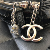 CHANEL Black Patent Leather Round As Earth Crossbody/Top Handle Bag