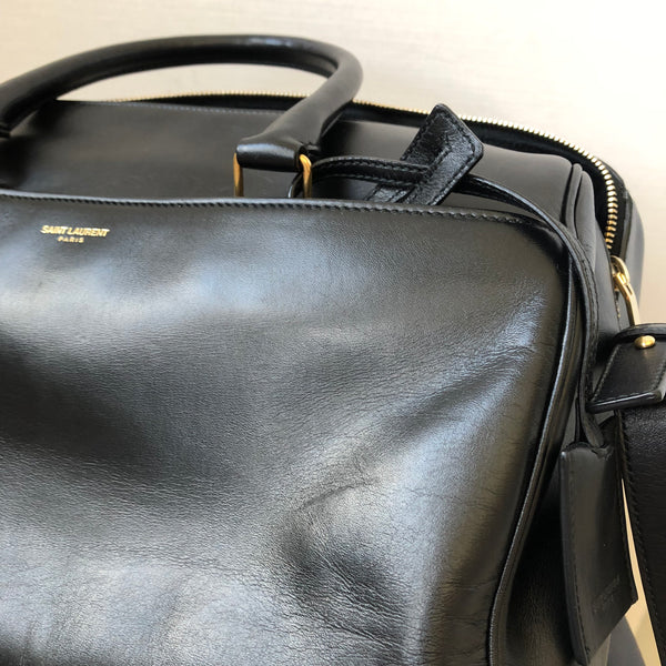 Saint Laurent Black Classic Duffle 6 Bag