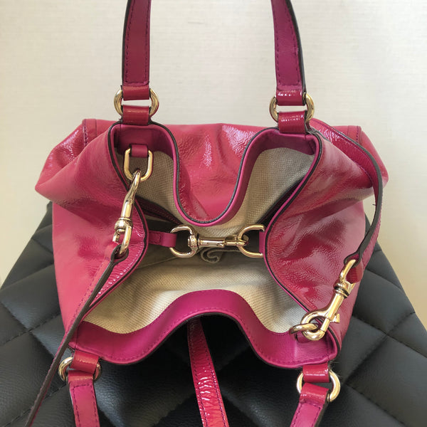 Gucci Fuchsia Pink Small Soho Patent Crossbody Bag