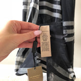 Burberry Black Check Wool/Silk Scarf/Shawl