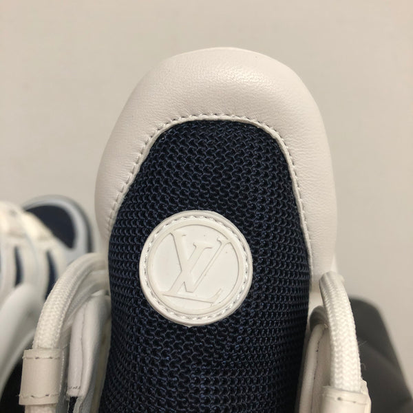 LOUIS VUITTON White/Navy Blue LV Archlight Sneakers Size 36.5