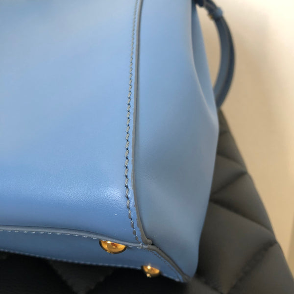 Fendi Blue Regular Peekaboo Crossbody Bag