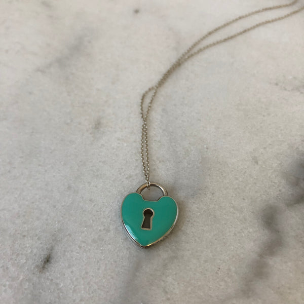 Tiffany Blue Lock Necklace