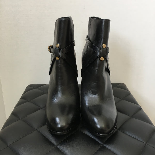 Tory Burch Black Leather Boots Size 10