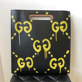 Gucci Medium Black Ghost Leather Tote