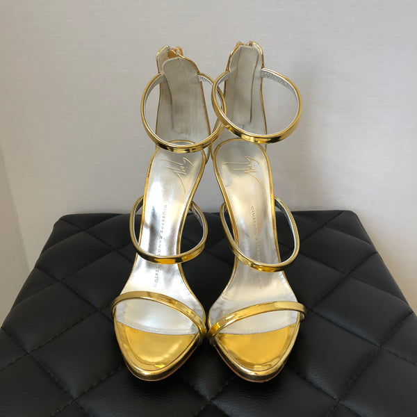 Giuseppe Zanotti Design Harmony Gold Metallic Sandals Size 36