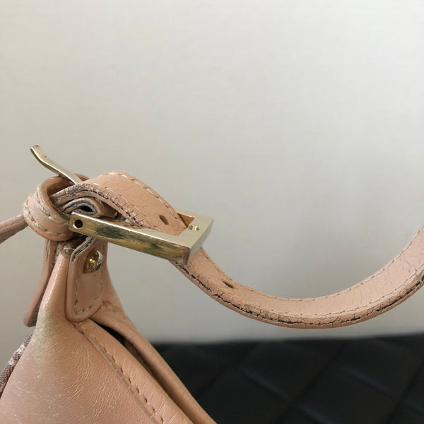 Fendi Pink Canvas Shoulder Bag