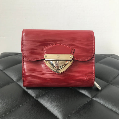 Louis Vuitton Rubis (Red) Epi Joey Wallet