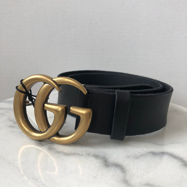 Gucci Black Marmont Belt 75/30