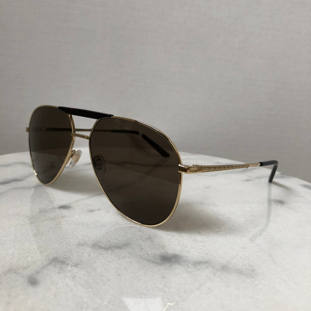 94c269f7529 Gucci Havana Gold Aviator Sunglasses