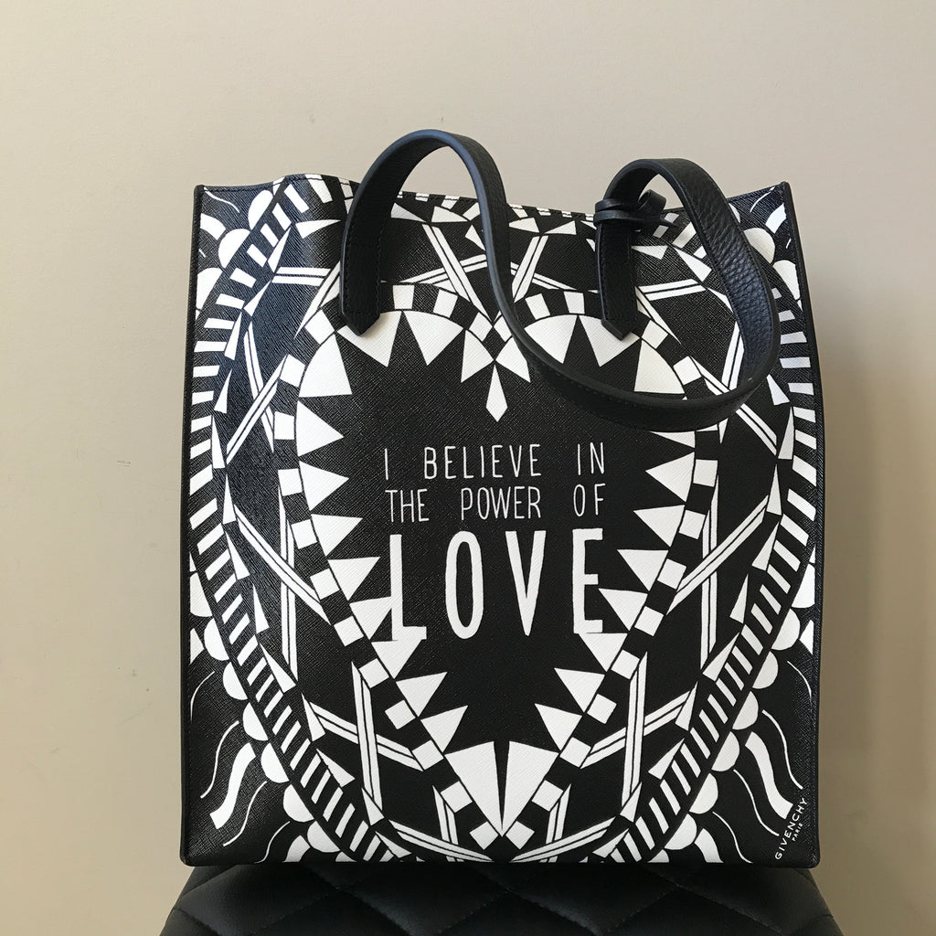 a3463bde1f Givenchy Black White Power of Love Tote