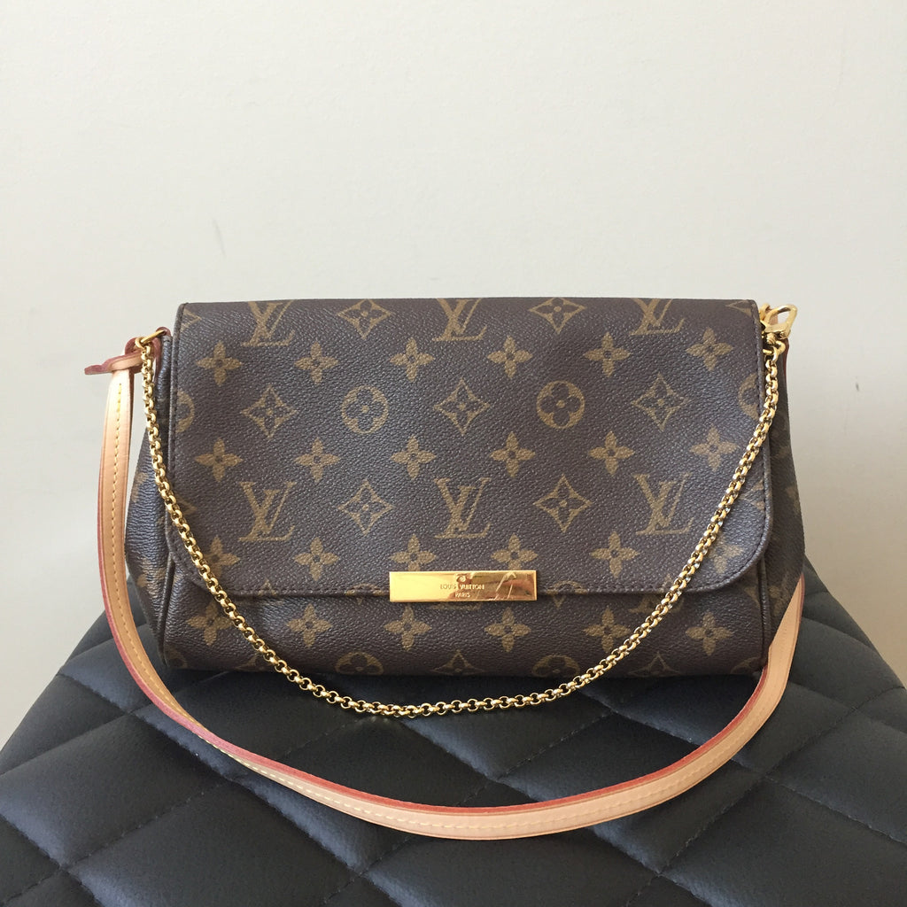 834e326bf507 Louis Vuitton Favorite MM Monogram Clutch Crossbody Bag