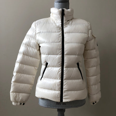 Moncler Kids Bady White Down Filled Jacket Size 12 (fits Ladies US 0)