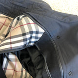 Burberry Black Trench Jacket Size 10R