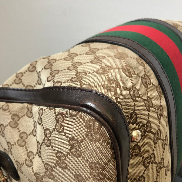 Gucci Vintage Web Original GG Boston Crossbody/Shoulder Bag