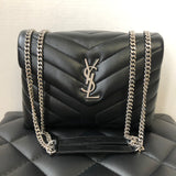 Saint Laurent Black Small Loulou Matelassé Leather Crossbody/Shoulder Bag
