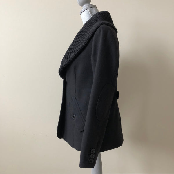 Burberry Black Wool Jacket Size US 6 (fits US 4-6)