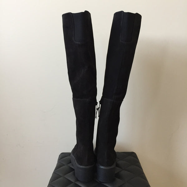 Stuart Weitzman Black Real Easy Suede Over-The-Knee Boot Size 39