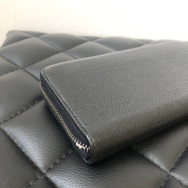 Prada Black Grained Leather Wallet