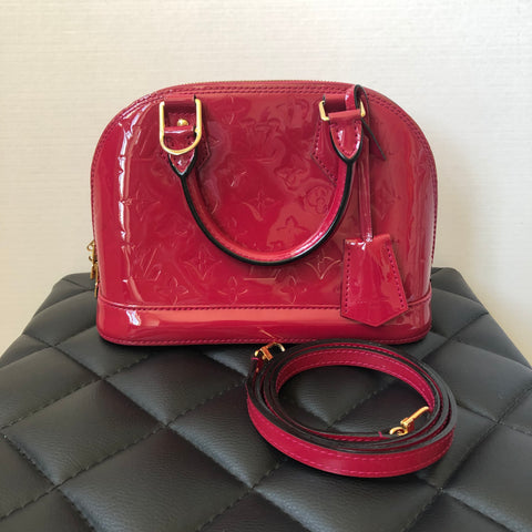 Louis Vuitton Alma BB Vernis in Indian Rose (Pink) Crossbody Bag