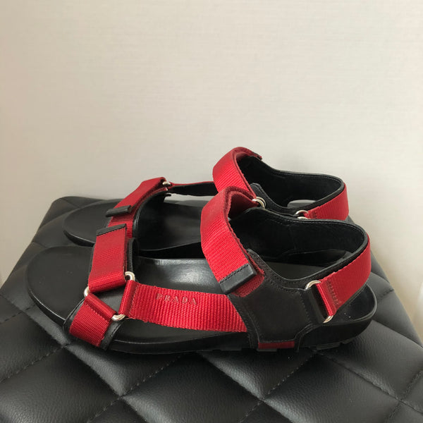 Prada Men's Red Sandals Size 7 (fits US 8-9)