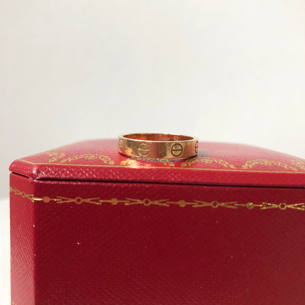 Cartier Love wedding band pink gold Size 52