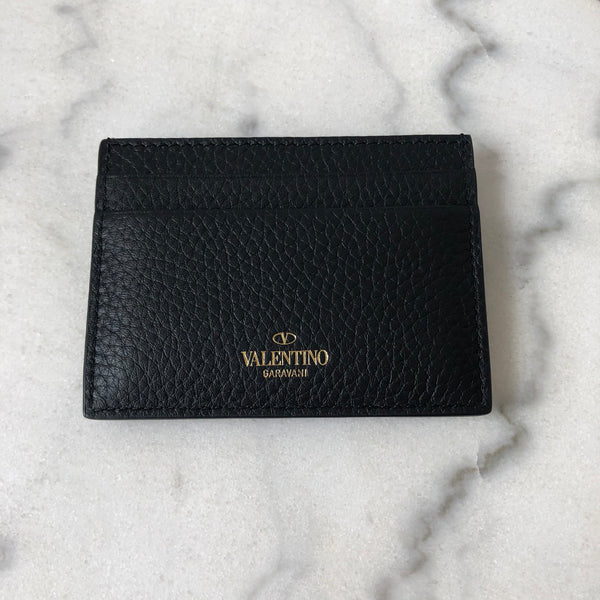 Valentino Black Rockstud Card Holder