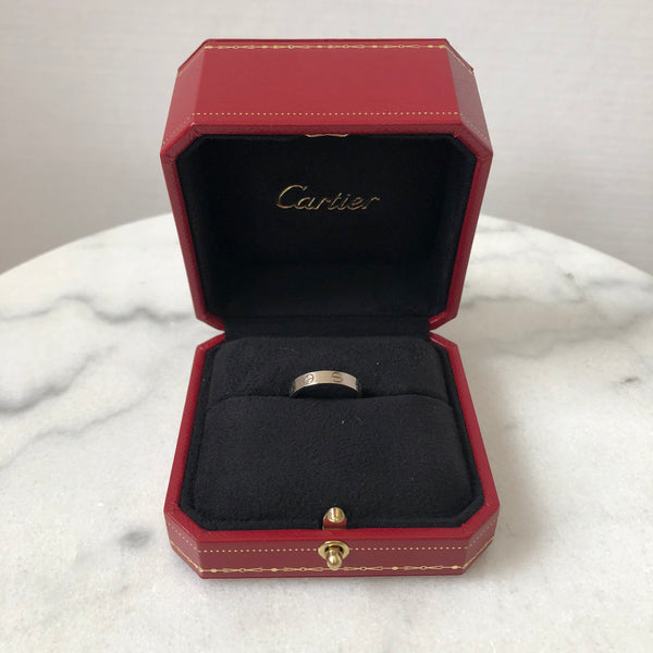 Cartier 18K White Gold Love Wedding Band Size 50