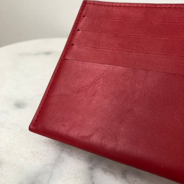 Louis Vuitton Red Felicie Card Holder Insert