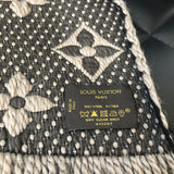 Louis Vuitton Logomania Grey Wool/Silk Scarf