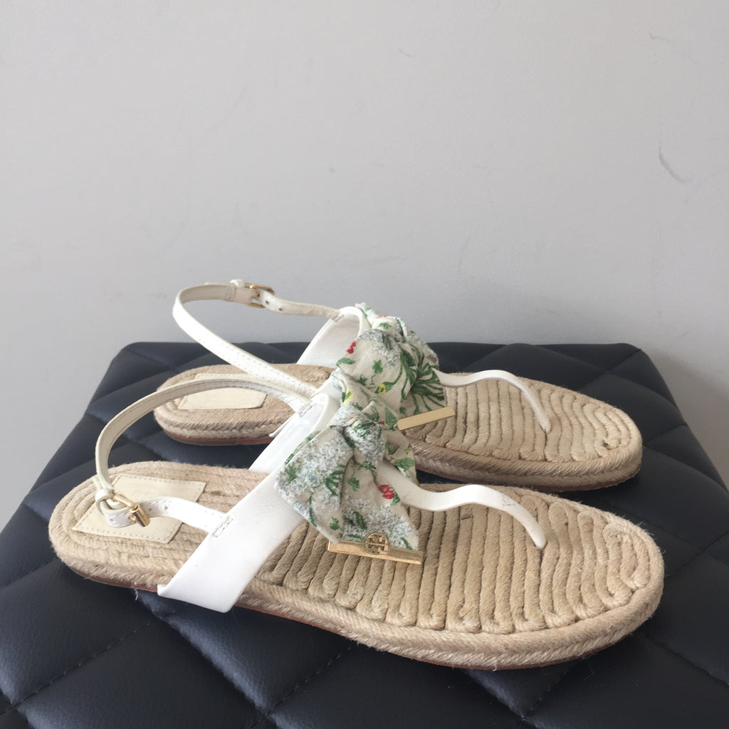 e5965534f61 Tory Burch Penny Flower Print Sandals Size 8.5