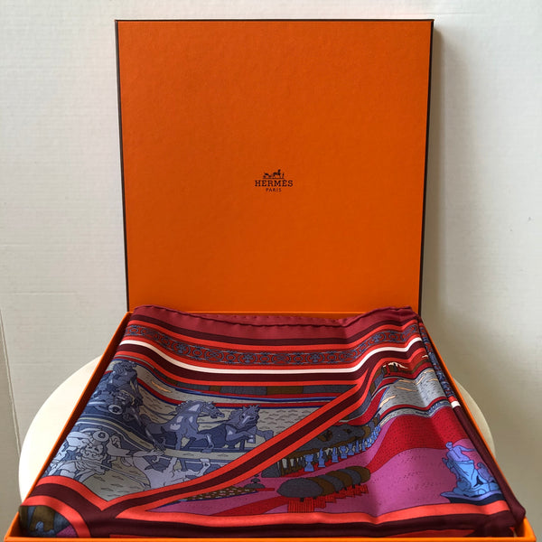 HERMES Multicolor Silk Flanerie A Versailles Scarf
