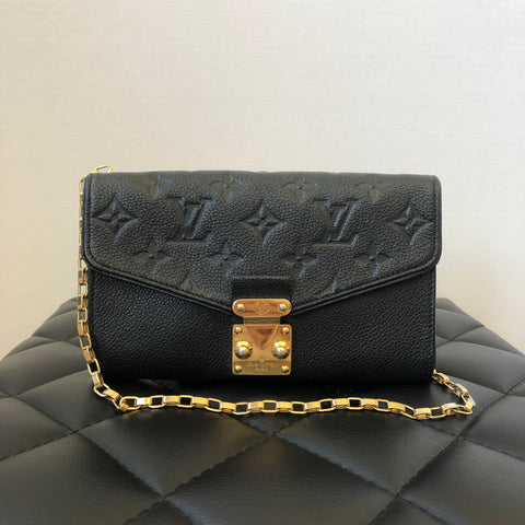 Louis Vuitton Black Monogram Empreinte Pochette Saint Germain Crossbody
