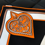 Hermes Silk Multicolor Zouaves et Dragons Scarf