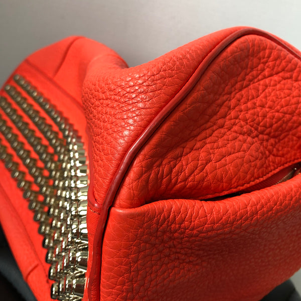 Alexander Wang Tangerine Rocco Studded Pale Gold Hardware Shoulder Bag