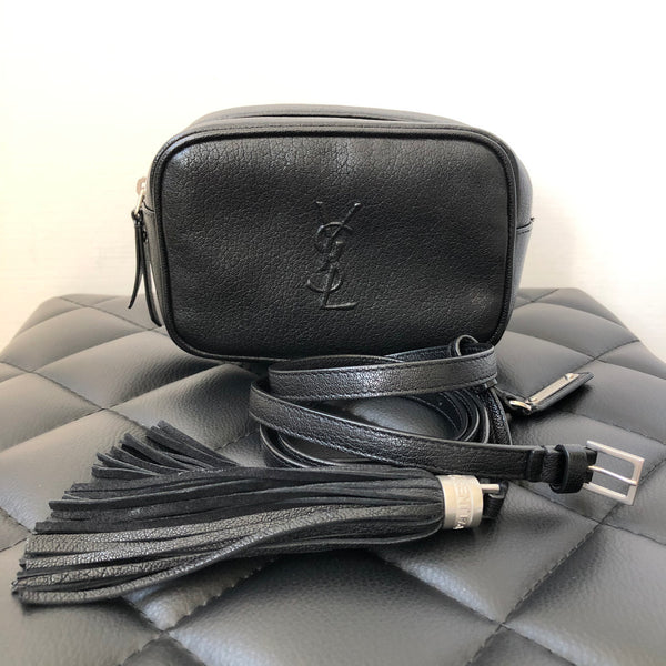 Saint Laurent Black LOU Tassel Belt Bag